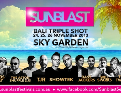 Sunblast with Showtek, Bassjacker, TJR, Will Sparks & lots more – 4 weeks to go.