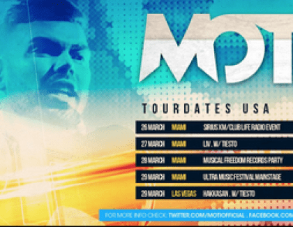 MOTI – Debut Australia / Asia bookings (Musical Madness Tiesto's Label) OCTOBER 1 – 18